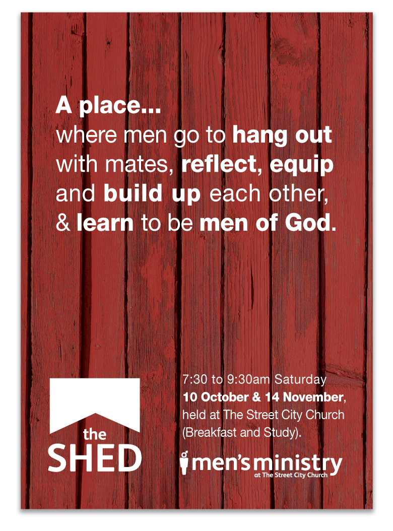 the shed promotional design  u2013 n8 creative